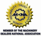 Member of the Machinery Dealers National Association